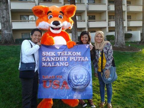 Guru dan Siswa SMK Telkom Malang saat diundang Mozilla di US